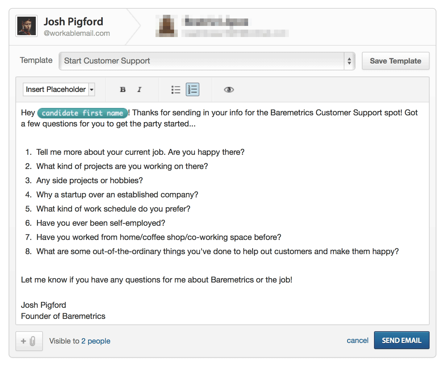 the startup guide to hiring a remote customer support rep baremetrics